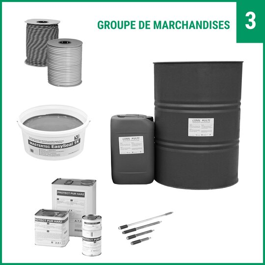 Tuyaux d`injection/ chimie pour la structure